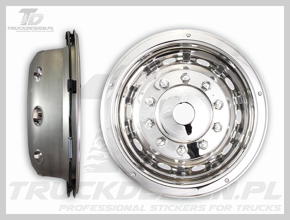 "Mercedes. Set of Deluxe 22.5/"" Wheel Trims Scania MAN Iveco Wheel Trims"